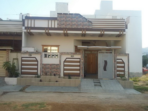 240-Yards-single-lavish-4 Single Story Home Exterior Design on single story home with round columns, two-story office building design, single story traditional home exteriors, one story house roof design, building exterior design, kerala flat roof house design, single level homes, exterior retail store design, single story interior design, mid century modern lake home design, wood house design, rustic modern home design, home house design,