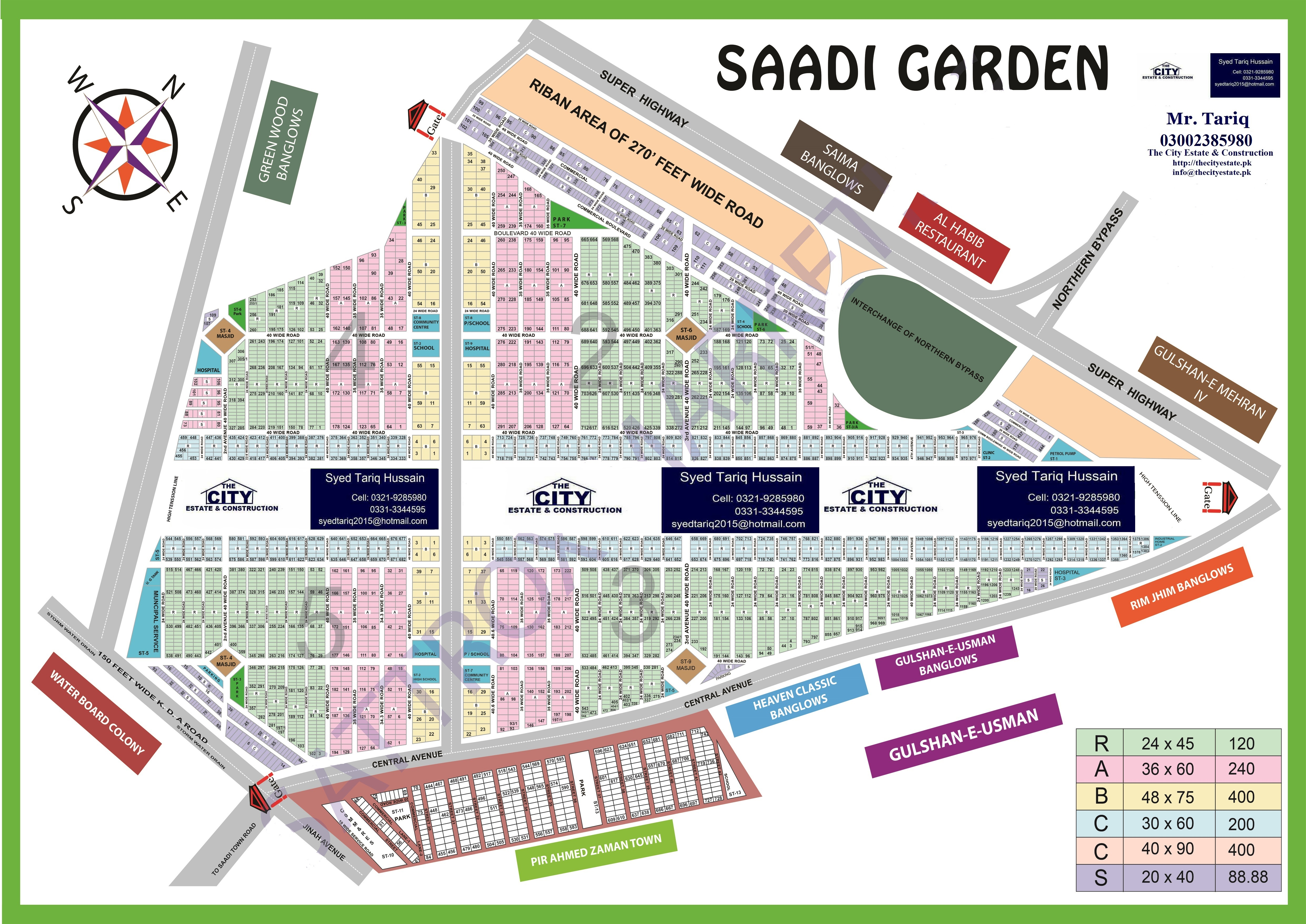 high resolution map of Saadi Garden